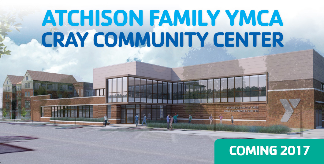 Rendering of the Atchison Family YMCA Cray Community Center