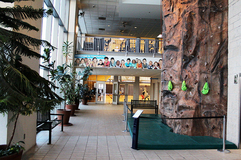 Rock Climbing Wall at the North Kansas City YMCA
