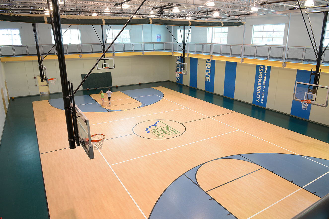 Gymnasium at Platte County Community Center South