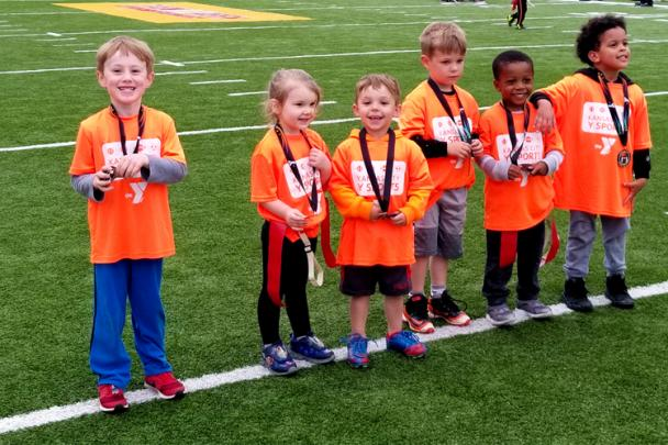 Bitty Sports Participants during a medal ceremony