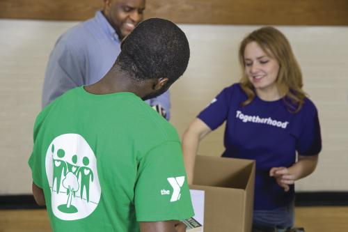 YMCA Volunteer Book Drive